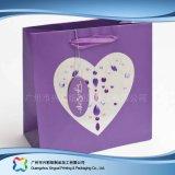 Sac de transporteur de empaquetage estampé de papier pour les vêtements de cadeau d'achats (XC-bgg-019)