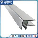 Perfil de aluminio anodizado estilo europeo para el marco de cristal del sitio de ducha