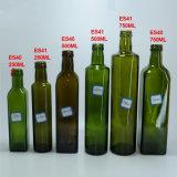 Frasco de vidro por atacado 100ml 250ml 500ml 750ml 1000ml de petróleo verde-oliva do frasco do quadrado do frasco de petróleo verde-oliva do OEM da fábrica