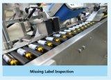Máquina leve Integrated da inspeção e das etiquetas com o Inserter da Frasco-à-Bandeja e da palha