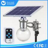 Lampe solaire de jardin capable de la rotation arbitraire de la cornière solaire de panneau