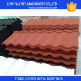 Telhas de aço Pedra-Revestidas coloridas da folha da telhadura de Linyi Wante