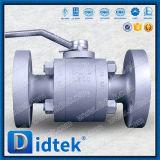 Válvula de esfera assentada PTFE da flutuação dos fins da flange do petróleo e do gás de Didtek