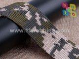 بوليستر يطبع تمويه نيلون شريط منسوج حزام سير لأنّ جيش