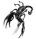 etiqueta engomada temporal del tatuaje del arte de la etiqueta engomada del tatuaje del escorpión negro 3D
