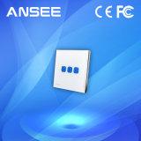Interruptor de pared de luz inteligente, el panel de vidrio con indicador LED