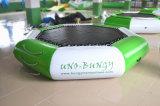 Trampolino gonfiabile tagliente dell'acqua dell'ottagono verde sulla vendita