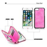 Крышка случая сотового телефона сепарабольных женщин бумажника кожаный на iPhone 7