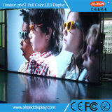 Étalage d'écran polychrome fixe extérieur de l'installation P6.67 DEL