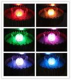 La fuente del jardín de interior o al aire libre del agua con luz LED