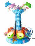 De gelukkige Apparatuur van de Speelplaats van de Carrousel van de Dolfijn voor Kinderen (zj-AC03)
