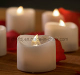 Reeks de zonder vlammen van Kaarsen van 4 Echte LEIDENE van de Vlam van de Was Dansende Kaarsen met 10-zeer belangrijke Afstandsbediening 2/4/6/8 Tijdopnemer van Uren, de Kleur van het Ivoor