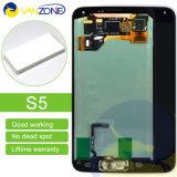 Оптовый оригинал запасных частей 100% мобильного телефона для экрана экрана G900f/G900h LCD галактики S5 I9600 LCD Samsung