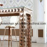 Высокая нержавеющая сталь ног с таблицами закала стеклянными обедая для используемого дома