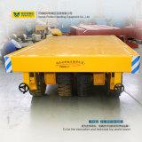 작업장에 있는 10t 화물 수송기 손수레 편평한 견인된 트롤리
