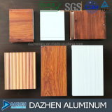 Talla modificada para requisitos particulares perfil de aluminio de madera de aluminio del color del grano de la cabina de los muebles