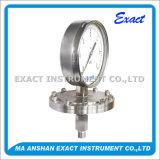 La presión de acero Calibrar-Inoxidable de la presión de la alta calidad Calibra-Diaphram el calibrador de presión