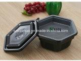 단 하나 6각형은 처분할 수 있는 플라스틱 음식 콘테이너 2개의 층 두껍게 한다