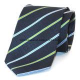 L'homme Fashio cravate en soie tissée Jacquard rayé