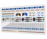 Metálico azul de la joyería de plata de oro impermeable de la etiqueta engomada del tatuaje temporal