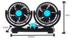 Ventilateur principal duel de véhicule de ventilateur de véhicule du ventilateur 12V de véhicule de C.C