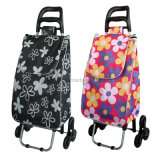 3 roulettes Foldable multi-usages Easy Store Climbing Metal Trolley Cart