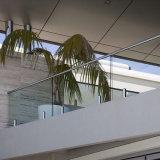 Acero inoxidable 316 barandillas de cristal de las barandillas del pasamano del balcón