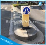 Poste de amarração de advertência do tráfego flexível plástico do estacionamento