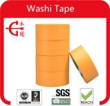 Cintas adhesivas impresas aduana amarilla de Washi del color del arroz