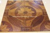 Plancher en bois de médaillon du fait main 450*450