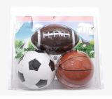 Ensembles de cadeaux créatifs pour enfants Authentique pignon gonflable pour l'environnement PVC5 pouces Foot Ball Basket Ball Suit