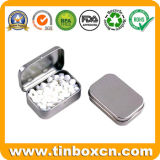 Прямоугольная Mint коробка олова, чонсервная банка конфеты металла, жестяная коробка камеди