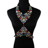 Ювелирные изделия тела диаманта цветастого Rhinestone модельера кристаллический