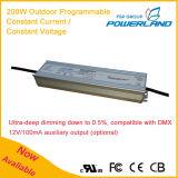 driver impermeabile corrente costante programmabile esterno di 200W 29~285V LED