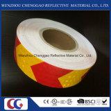 Cinta material reflexiva cristalina del PVC de la alta visibilidad en la fábrica de China