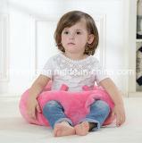 Het ronde Hoofdkussen van de Baby van de Stof van de Pluche Roze met het Katoenen van pp Vullen