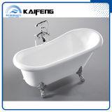 Acabado en blanco Pie en garra bañera (KF-721C)