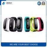 Pulsera elegante de Bluetooth de la pulsera de la fábrica de la prueba del ritmo cardíaco de la presión arterial del sueño del monitor del paso de progresión directo de encargo elegante del movimiento