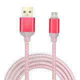 Luz LED de colores del cable micro USB para teléfono móvil