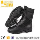 Nuevo diseño de moda de alta calidad de los hombres negros de cuero auténtico ejército de arranque de tácticas militares de arranque Boot