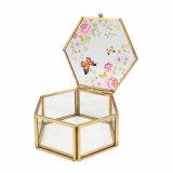 Rectángulo de almacenaje de cristal de la joyería del regalo de la fuente de la alta calidad (Jb-1048-11)