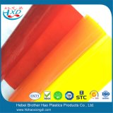 Feuille molle orange transparente de PVC