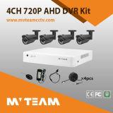 Mvteam preiswerter 720p Ahd DVR CCTV-Installationssatz für Großverkauf mit P2p-Fernansicht Mvt-Kah04