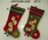 Decoración de Navidad muñeco de nieve familia Stocking, 3asst-