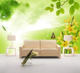 ホーム装飾のための蝶及び黄色の花のインクジェットによって印刷される油絵