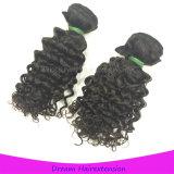 Человеческие волосы девственницы Unprocessed полной надкожицы курчавые бразильские