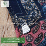 100% Viskose-Quadrat-Acajoubaum gedruckte Schal-Form-Dame Moslem Scarf