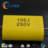 Flat Type Axial Cbb20 (106j / 250V) Metadized Polypropylene Film Capacitor