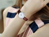 형식 단순한 설계 남녀 공통 시계 스테인리스 진짜 가죽끈 시계 승진 Items71044