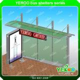 Personalización de la publicidad exterior señalización de la calle refugio de parada de autobús de pantalla